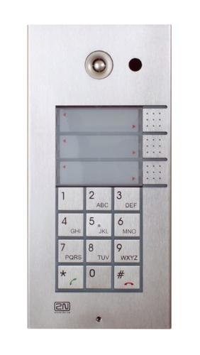 2N Helios IP 3 tasti + tastiera + cam. 2N